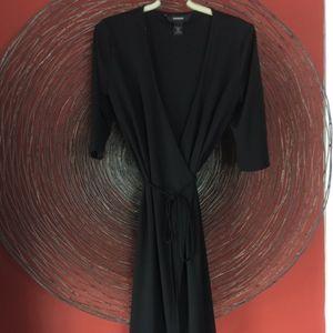 Vintage 90s Express Black wrap dress